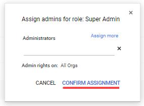Edit Admin Google